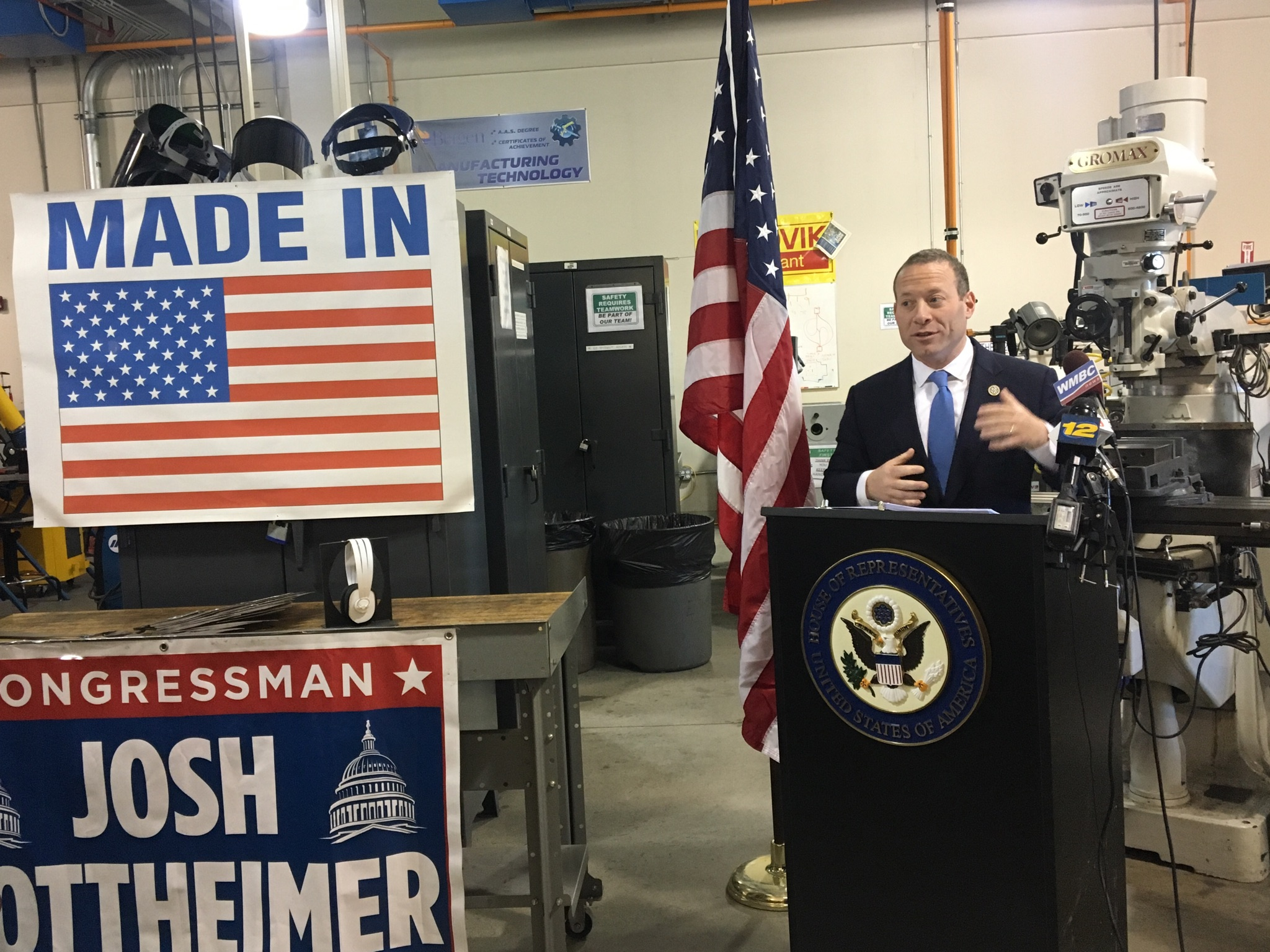 Amazing Below: Congressman Gottheimer Outlines His Vision For Future Technology Jobs  In New Jersey.